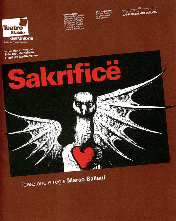 Sakrifice (2000) libretto di sala